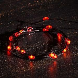 Orange LED string lights